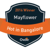 Mayflower Language Services is the winner of Owler's 2016 HOT in Bangalore Award.